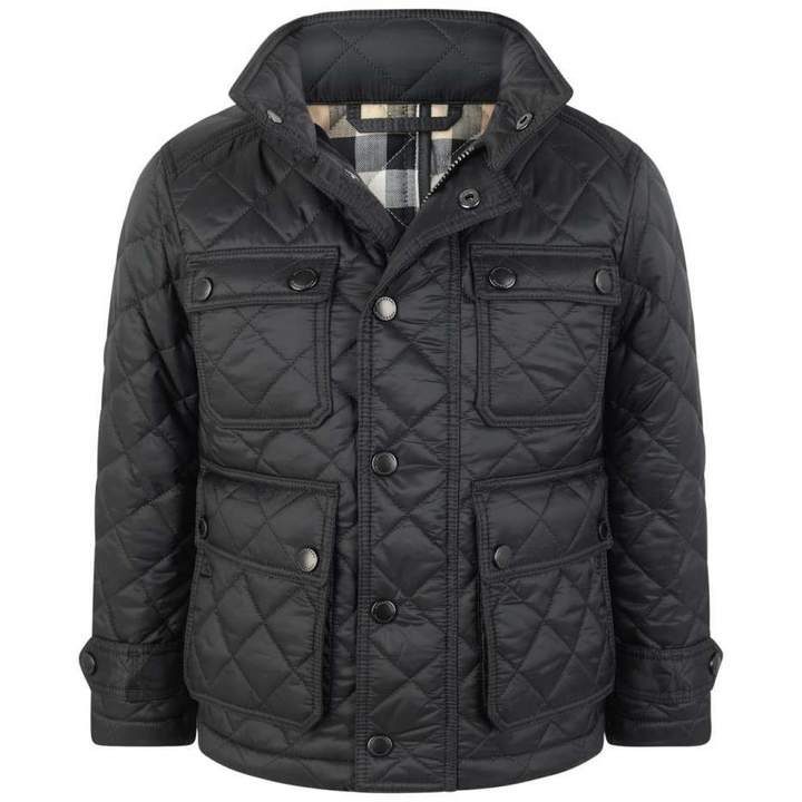 BurberryBoys Dark Grey Quilted Halesworth Jacket