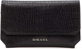 Diesel (ディーゼル) - DIESEL 型押しレザー 三つ折り財布 ブラック uni
