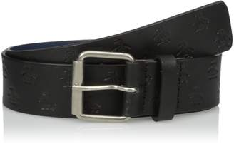 Original Penguin Men's All Over Embossed Leather Belt