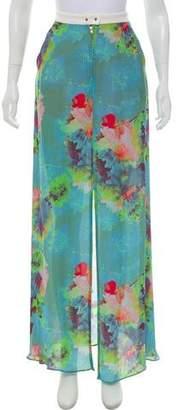 A.L.C. Floral Silk Maxi Skirt