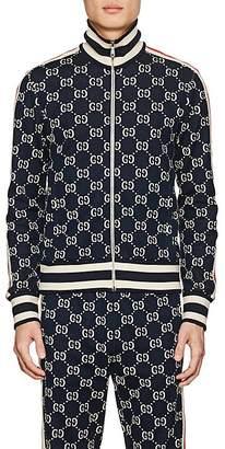 Gucci Men's GG Supreme Knit Cotton Track Jacket