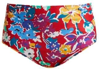 Araks Mallory High Rise Liberty Print Bikini Briefs - Womens - Red Multi