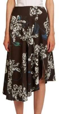 Asymmetric Orchid Skirt