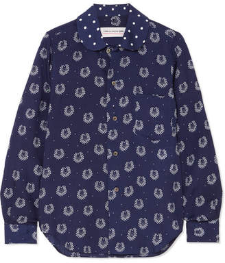 Comme des Garcons Printed Poplin Shirt - Navy