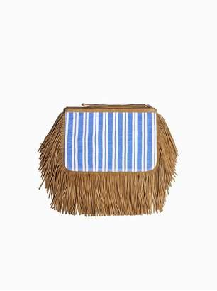 Lemlem Liya Fringe Clutch Bag