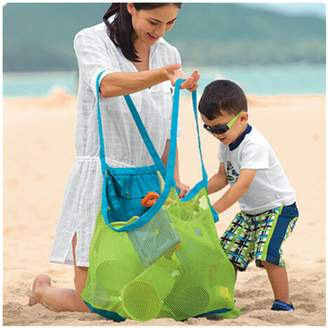 Mai Poetry Beach Bag Large Mesh Tote Backpack Toys Towels Sand Away,Perfect for Holding Childrens' Toys
