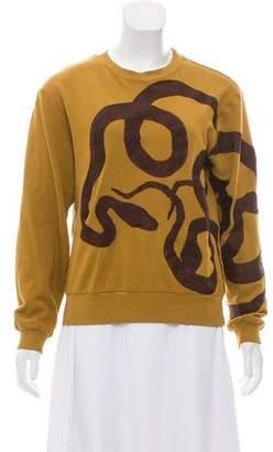 Dries Van Noten Embroidered Snake Sweatshirt