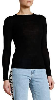 Stella McCartney Lightweight Fitted Crewneck Sweater