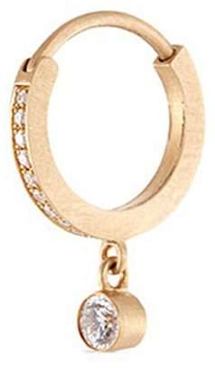 Sophie Bille Brahe 'Daisy Grand' diamond 18k yellow gold single hoop earring