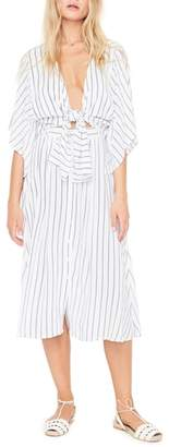 Faithfull The Brand Massimo Stripe Midi Dress