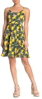 Spense Lemon Print Fit & Flare Dress