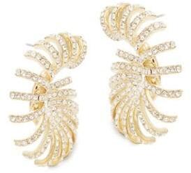 Adriana Orsini Cassandra Pave Hoop Earrings