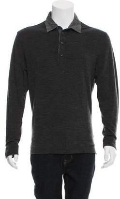 Zegna Sport Wool-Blend Long Sleeve Polo
