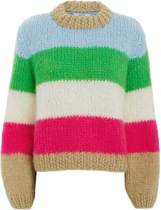 Ganni Julliard Colorblock Striped Sweater