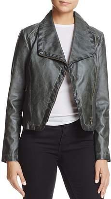 Bagatelle Faux-Leather Moto Jacket