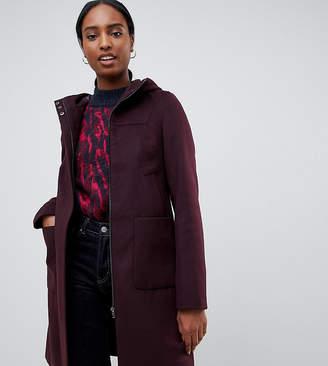 Asos DESIGN Tall zip through coat with hood