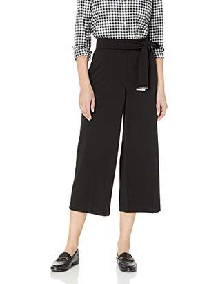 Calvin Klein Women's Culotte Pant with Tie Belt