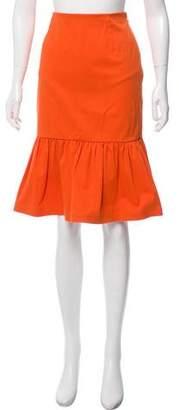 Prada Pleated Knee Length Skirt