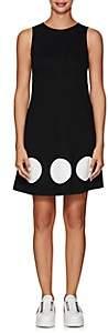 Lisa Perry Women's Dot-Inset Ponte A-Line Dress-Black