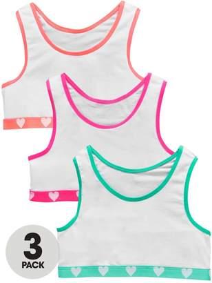 Very Girls 3 Pack Neon Heart Crop Tops