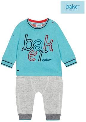Ted Baker Boys Multi Baker Logo T-Shirt & Jogger Set - Black