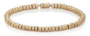 Luis Morais Men's White-Diamond-Embellished Beaded Bracelet - Gold
