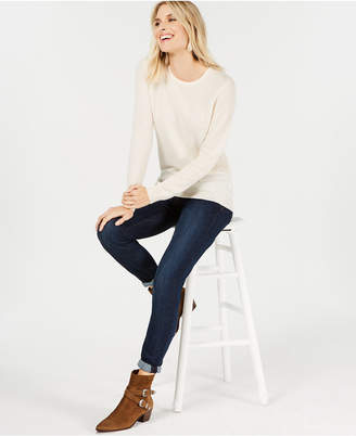 Charter Club Pure Cashmere Solid Crewneck Sweater in Regular & Petite Sizes