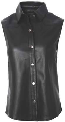 ELLESD - Sleeveless Leather Shirt