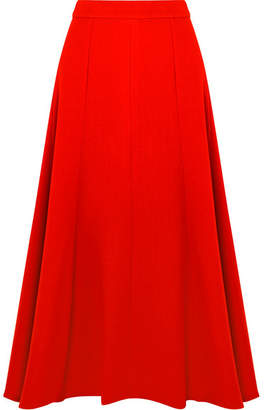 Emilia Wickstead Ruth Wool-crepe Midi Skirt - Red