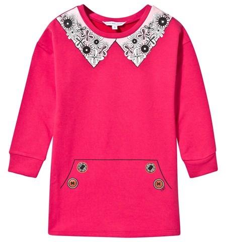 Little Marc JacobsLittle Marc Jacobs Pink Collar Trompe L ́oeil Jersey Dress