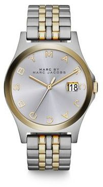 Marc by Marc Jacobs Henry Slim Two-Tone Stainless Steel Bracelet Watch $250 thestylecure.com