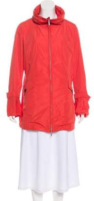 Max Mara Hooded Zip-Up Coat