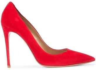 Aquazzura red suede pumps
