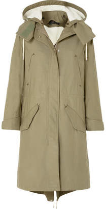 Rag & Bone Penelope Oversized Cotton-canvas Parka - Green