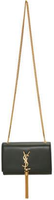 Saint Laurent Green Small Kate Tassel Chain Bag