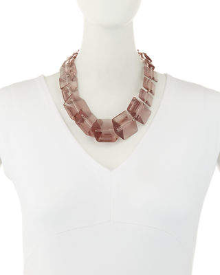 Lafayette 148 New York Clear Link Bead Necklace