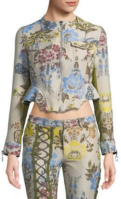 Marques Almeida Floral Peplum Jacket