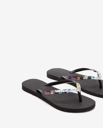 2d68649f058 Express Havaianas Slim Tropical Strap Flip Flops