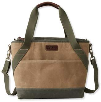 At L Bean Insulated Waxed Canvas Tote Medium