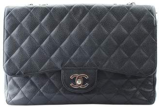 Chanel Jumbo Caviar Quilted Black Leather Shoulder Bag