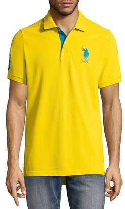 U.S. Polo Assn. USPA Short Sleeve Big Pony Contrast Collar Polo Shirt