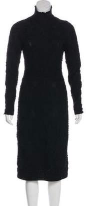 Salvatore Ferragamo Wool Embroidered Dress