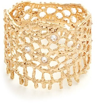 Aurelie Bidermann Fine Jewellery Fine Jewellery - Diamond & Yellow Gold Ring - Womens - Gold