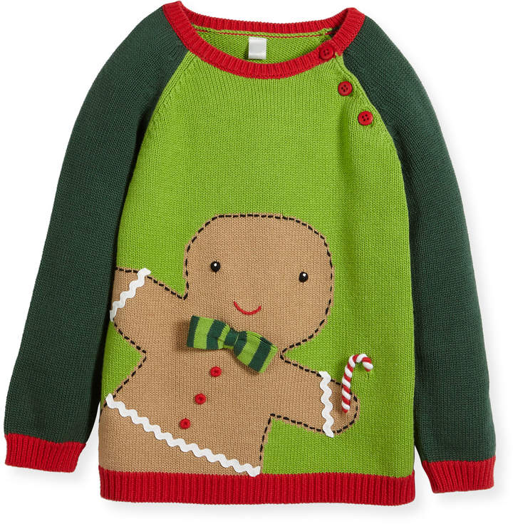 Zubels Boys' Knit Gingerman Sweater, Sizes 2T-10