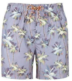 Burton Mens Tokyo Laundry Navy Palm Print Swim Shorts*