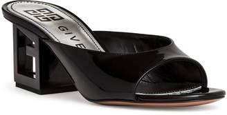 Givenchy Patent black leather Triangle mules