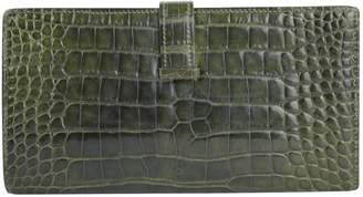 96ed3c19f2 Hermes Bearn Green Crocodile Wallets