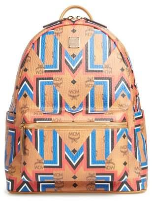 MCM Stark Gunta Visetos Print Faux Leather Backpack