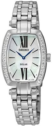 Seiko Mother of Pearl Dial Stainless Steel Quartz Ladies Watch SUP283 $475 thestylecure.com