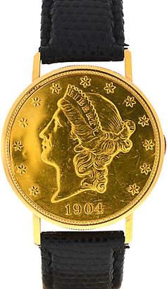 One Kings Lane Vintage 18K Ulysse Nardin Gold Manual-Wind Watch - BRP Luxury/OKL